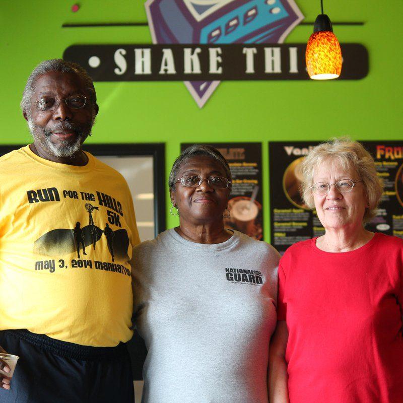 Three Flint Hills Volunteer Center volunteers